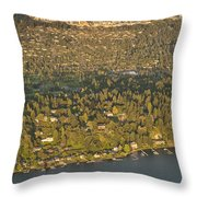 Bellvue Skyline At Sunset Throw Pillow