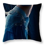 Belly Dance Color Throw Pillow
