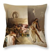 Belly Dancer Lounge Throw Pillow by Corporate Art Task Force
