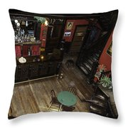 Belly Up To The Bar Boys Throw Pillow