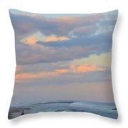 Belmar Nj Shore-evening-1 Throw Pillow
