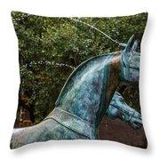 Belmond Charleston Place Horse Fountain Throw Pillow