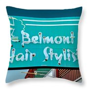 Belmont Hair Stylists Throw Pillow