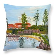 Belmore Basin From The North Sea Wall Throw Pillow