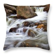 Below Alberta Falls II Throw Pillow