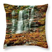 Below Ganoga Falls Throw Pillow