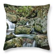 Below Mina Sauk Falls 1 Throw Pillow