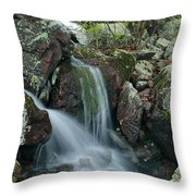 Below Mina Sauk Falls 4 On Taum Sauk Mountain Throw Pillow