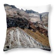 Below Santorini Throw Pillow