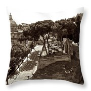 Below The Capitoline Hill Throw Pillow