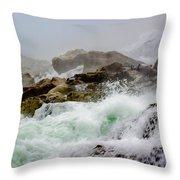 Below The Falls 1 Throw Pillow