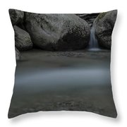Below The Falls Throw Pillow