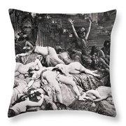 Belshazzars Feast Throw Pillow