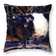 Beltie Throw Pillow