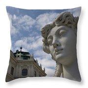 Belvedere Gardens Statue Throw Pillow