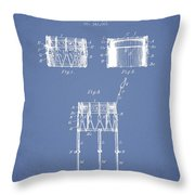 Bemis Snare Drum Patent Drawing From 1886 - Light Blue Throw Pillow