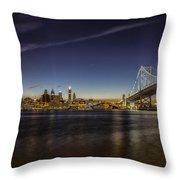 Ben Franklin Bridge Throw Pillow