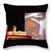 Ben Franklin Glass Harmonica Throw Pillow