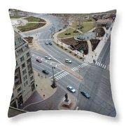 Ben Franklin Parkway Throw Pillow