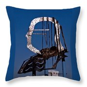 Ben Franklin Throw Pillow by Rona Black