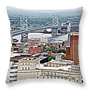 Ben Franklin View Throw Pillow