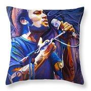 Ben Harper And Mic Throw Pillow