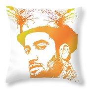 Ben Harper Pop Art Throw Pillow