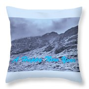 Ben Nevis Happy New Year Greeting Throw Pillow