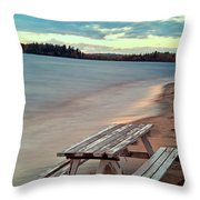 Bench And Table  Throw Pillow