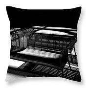 Bench Shadows Throw Pillow