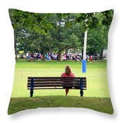 Bench Thoughts Throw Pillow