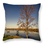 Lonely Friends - Bench And Tree Throw Pillow