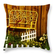 Bench With No Name  Throw Pillow