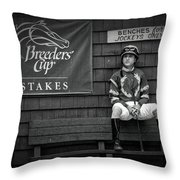 Benches For Jockeys Only Throw Pillow