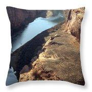 Bend In The Colorado River Throw Pillow