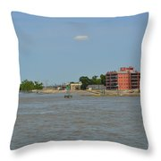 Bend Of The Mississippi River Throw Pillow