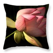 Bending In The Breeze Throw Pillow