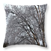 Bending With Ice Throw Pillow