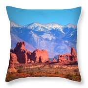 Beneath Blue Skies Throw Pillow