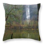 Beneath Crown Point 2  -  060114-004 Throw Pillow