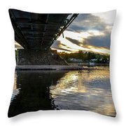 Beneath The New Hope - Lambertville Bridge Throw Pillow