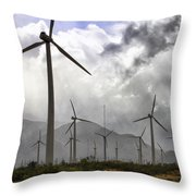 Beneath The Clouds Palm Springs Throw Pillow