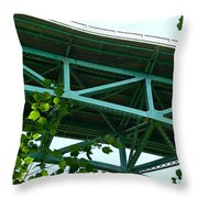 Beneath The Cut River Bridge Throw Pillow