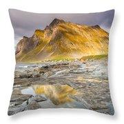 Beneath The Mountain Throw Pillow