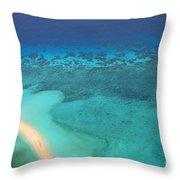 Beneath The Sea Great Barrier Reef Australia Throw Pillow