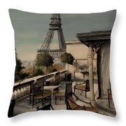 Beneath The Tower   Number 1 Throw Pillow by Diane Strain