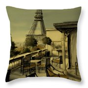 Beneath The Tower   Number 2 Throw Pillow by Diane Strain