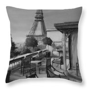 Beneath The Tower  Number 5 Throw Pillow by Diane Strain