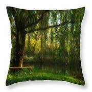 Beneath The Willow Throw Pillow