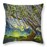 Beneath The Willow Throw Pillow